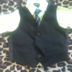 Boys shirt vest and tie
